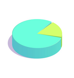 isometric pie chart icon vector image