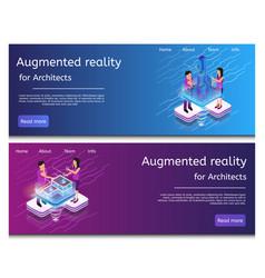 isometric virtual building design vector image