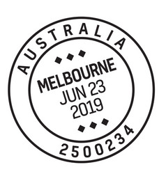 Melbourne australia mail delivery stamp vector