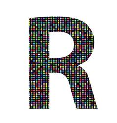 Multicolor letter R vector