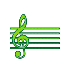 Music violin clef sign g-clef lemon vector