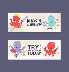 Octopus multitasking character vector