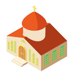 Orthodox church icon isometric style vector