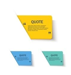 Quote forms set on paper banner vector