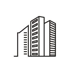 real estate apartments logo vector image