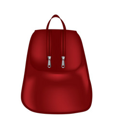 Red modern woman backpack vector