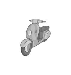 Scooter motorbike icon black monochrome style vector image
