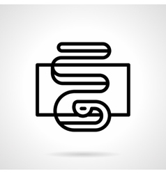 Serpentine icon black simple line style vector