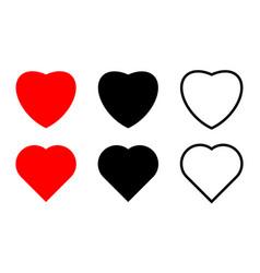 set heart shape vector image