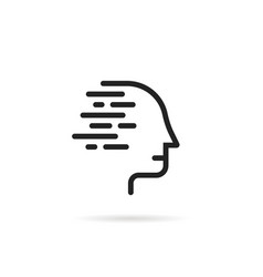 Simple black linear human logo vector