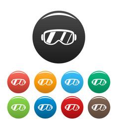 ski glasses icons set color vector image