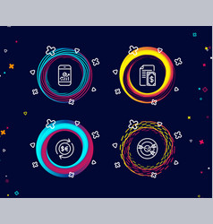 smartphone statistics money currency and payment vector image