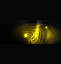 smoky glowing waves in dark dark abstract vector image