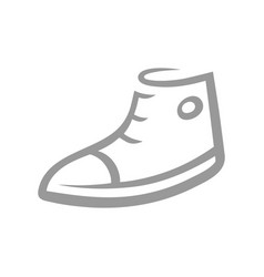 sneaker symbol icon on white vector image