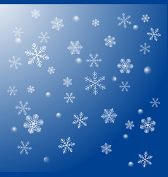 snowflakes are falling vector image