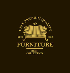 soft furniture label vector image