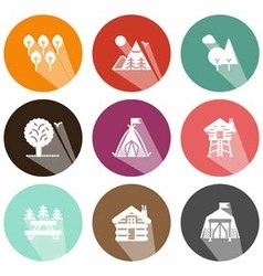 solid icons inland shadow vector image