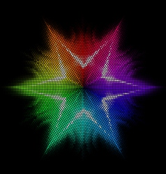 Star Multicolored mosaic vector