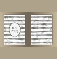 Stripe silver foil and marble coves vector