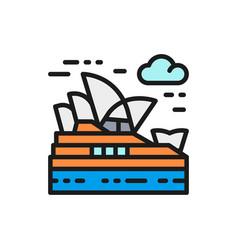 sydney opera house australia landmark vector image