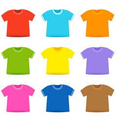 t shirt collection vector image