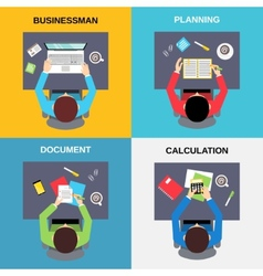 Top view businessman set vector