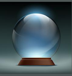Transparent crystal glass magic ball stock vector