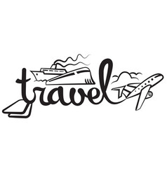 travel and cruise logo vector image