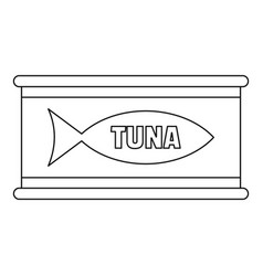 Tuna tin can icon outline style vector