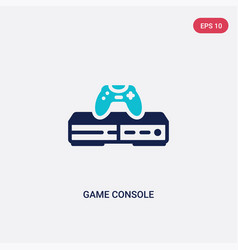 two color game console icon from electronic vector image