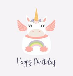 Unicorn cake vector