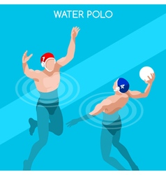 Water Polo 2016 Summer Games Isometric 3D vector