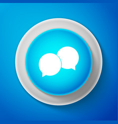 white blank speech bubbles icon isolated vector image