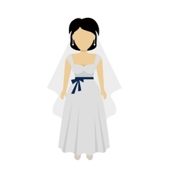 Woman bride character vector