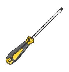 Yellow screwdriver vector