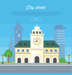 city street flat style banner vector image