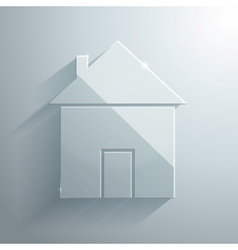 Glass Icon of Home vector image vector image