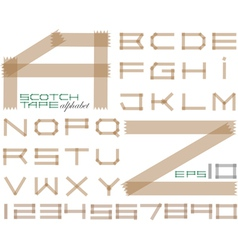 Scotch tape alphabet vector image