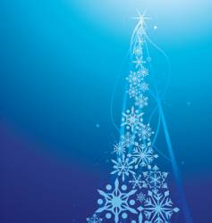 snow flake christmas tree vector image vector image