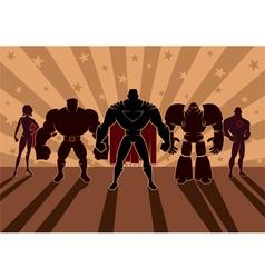 Superhero Team vector image vector image