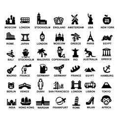 Travel and landmarks vector