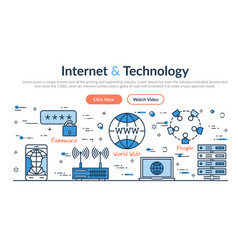web site header - internet and technology vector image