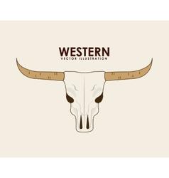western banner vector image