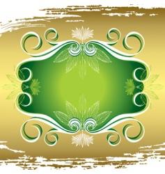 flora frame vector image