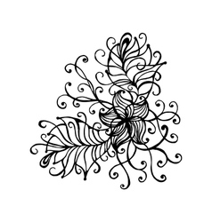 Hand drawn doodle outline magic line art element vector image vector image