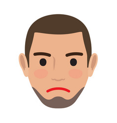 indifferent man avatar user pic front view vector image