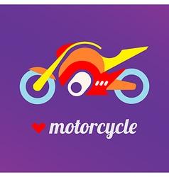 love motorcycle vector image vector image