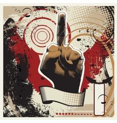 Obscene Gesture vector image vector image