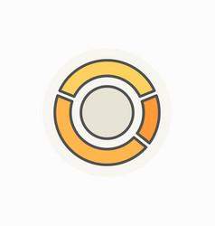 pie chart creative icon vector image vector image