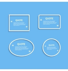 Quote frame outline vector image